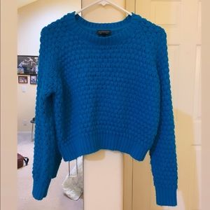 Blue Cropped Sweater from Topshop